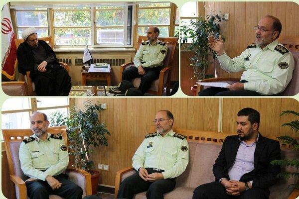دیدار معاون اجتماعی ناجا از دانشگاه مذاهب اسلامی